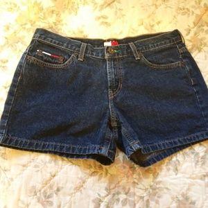 Tommy Hilfiger Denim Shorts sz 7 Dark Wash